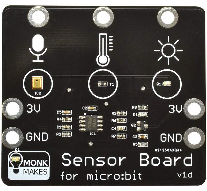 Monk Makes Sensor Board for MICRO:BIT