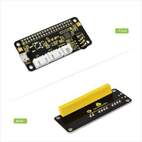 5V-os hangszóró 2-mikrofon Pi HAT V1.0 bővítőlap Raspberry Pi Zero / Zero W