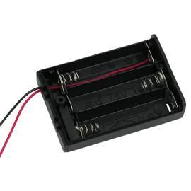 Elemtartó 3 db AA - kapcsolóval, fedőlappal
