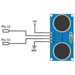 HC-SR04 ultrahangos érzékelő