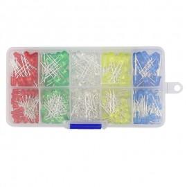 5mm / 3mm LED készlet doboz, 5 színben (125db)