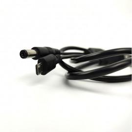 Kettős kimeneti kábel - USB A - 2,1 mm-es DC hordó és mikro USB