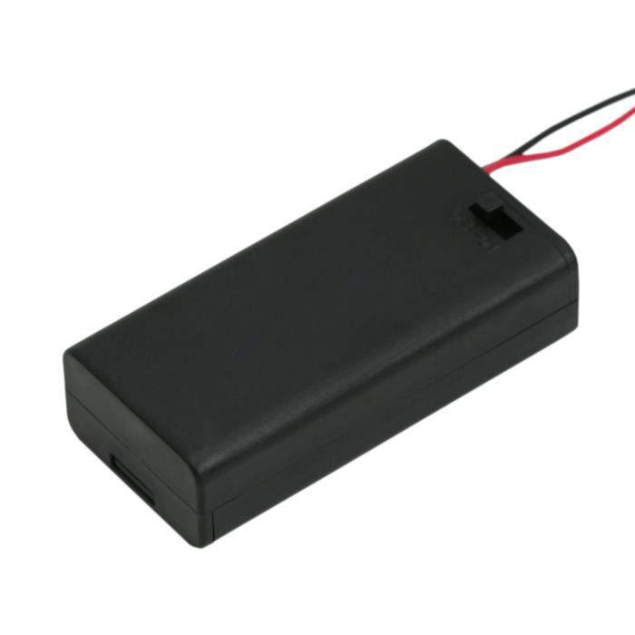 Elemtartó 2 db AA - kapcsolóval, fedőlappal
