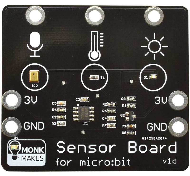 Monk Makes Sensor Board for MICRO:BIT