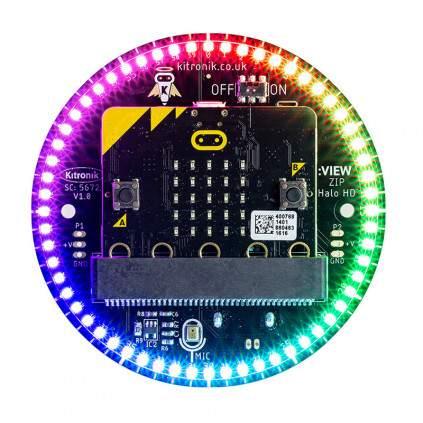 Kitronik ZIP Halo HD a micro:bithez