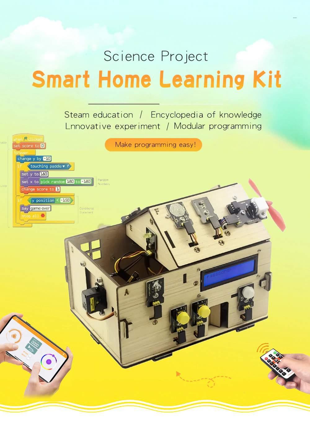 Keyestudio Smart Home Kit with PLUS Board for Arduino DIY STEM