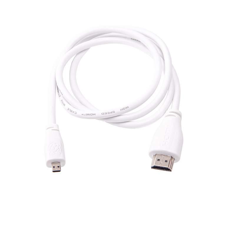 Hivatalos Micro HDMI - HDMI kábel 2m fehér