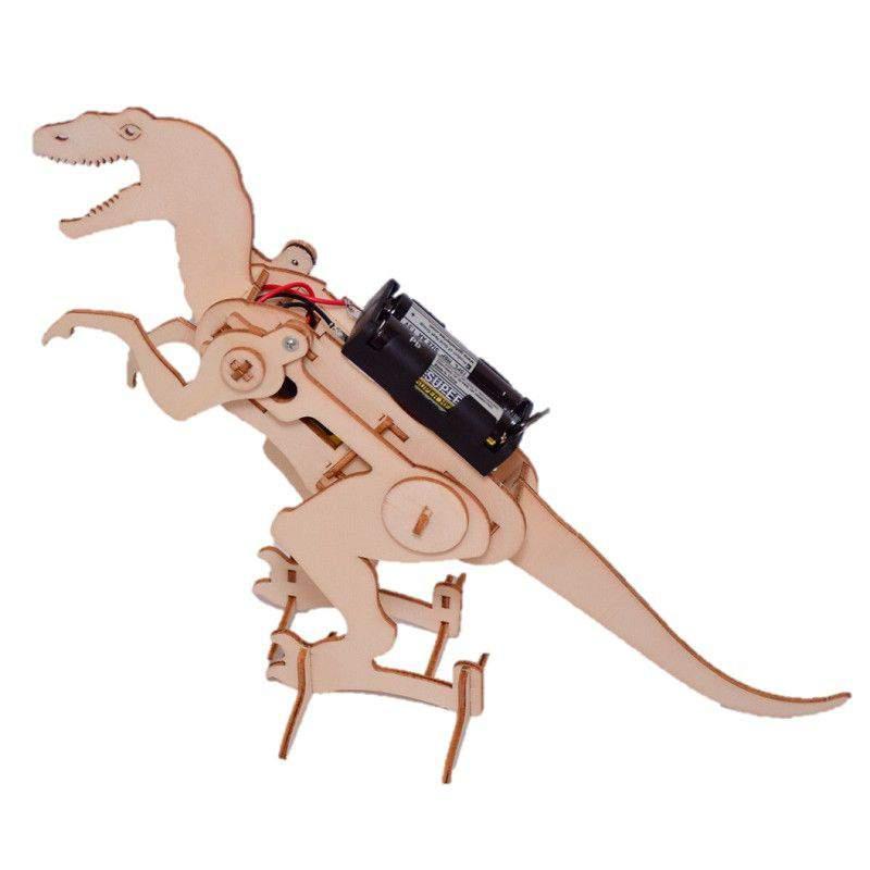DIY fából készült dinoszaurusz (elemekkel)